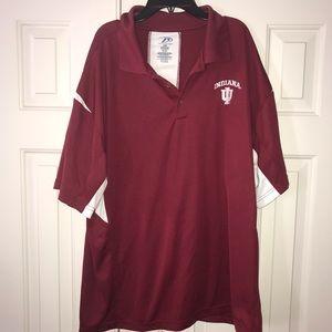 EUC University of Indiana Polo Shirt Size XL.